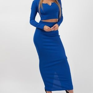 Dresses & Skirts - Crop Top and Skirt Set